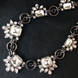 WH/BM Clear Crystal Statement Necklace